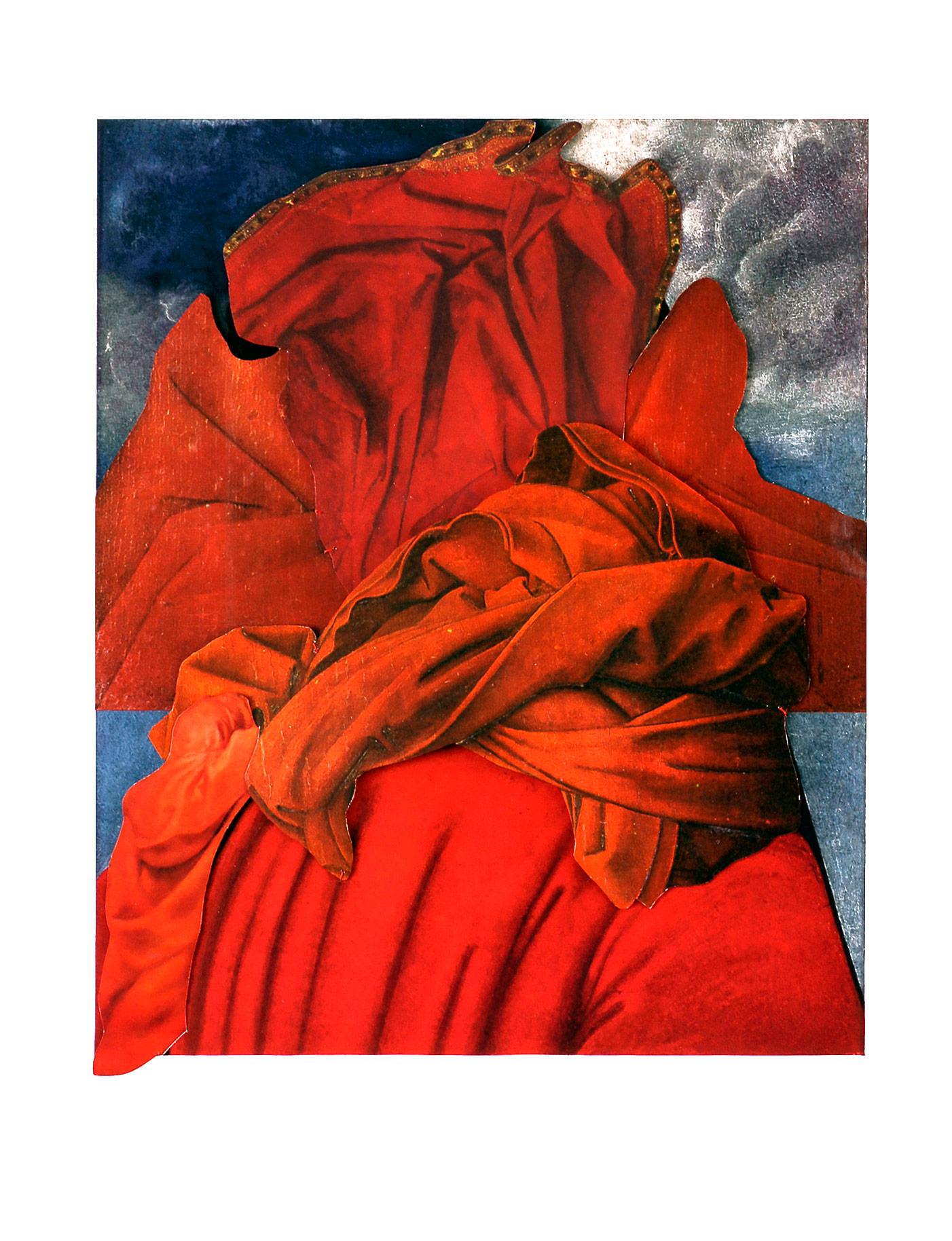 Collage#32, 2010.  (Frente). Collage,papel, hilo. 32 x 24,2 cm.