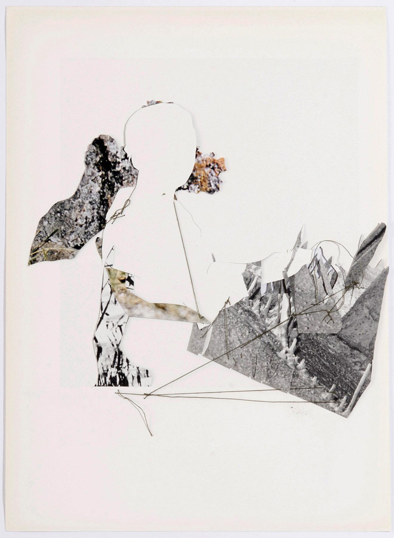 Collage#26, 2010. (Dorso). Collage,papel, hilo. 25 x 19,5 cm.