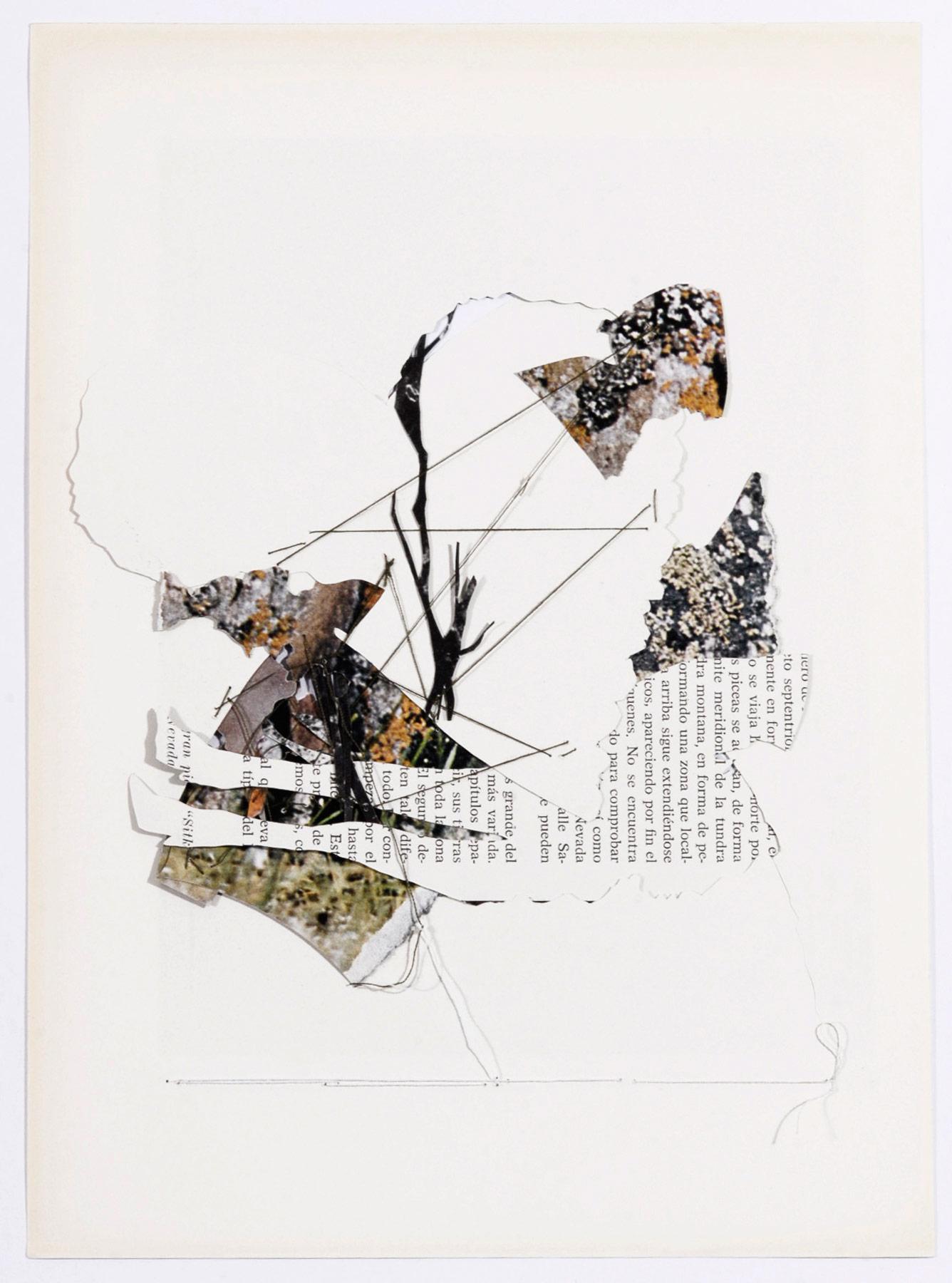 Collage#25, 2010. (Dorso). Collage,papel, hilo. 25 x 19,5 cm.
