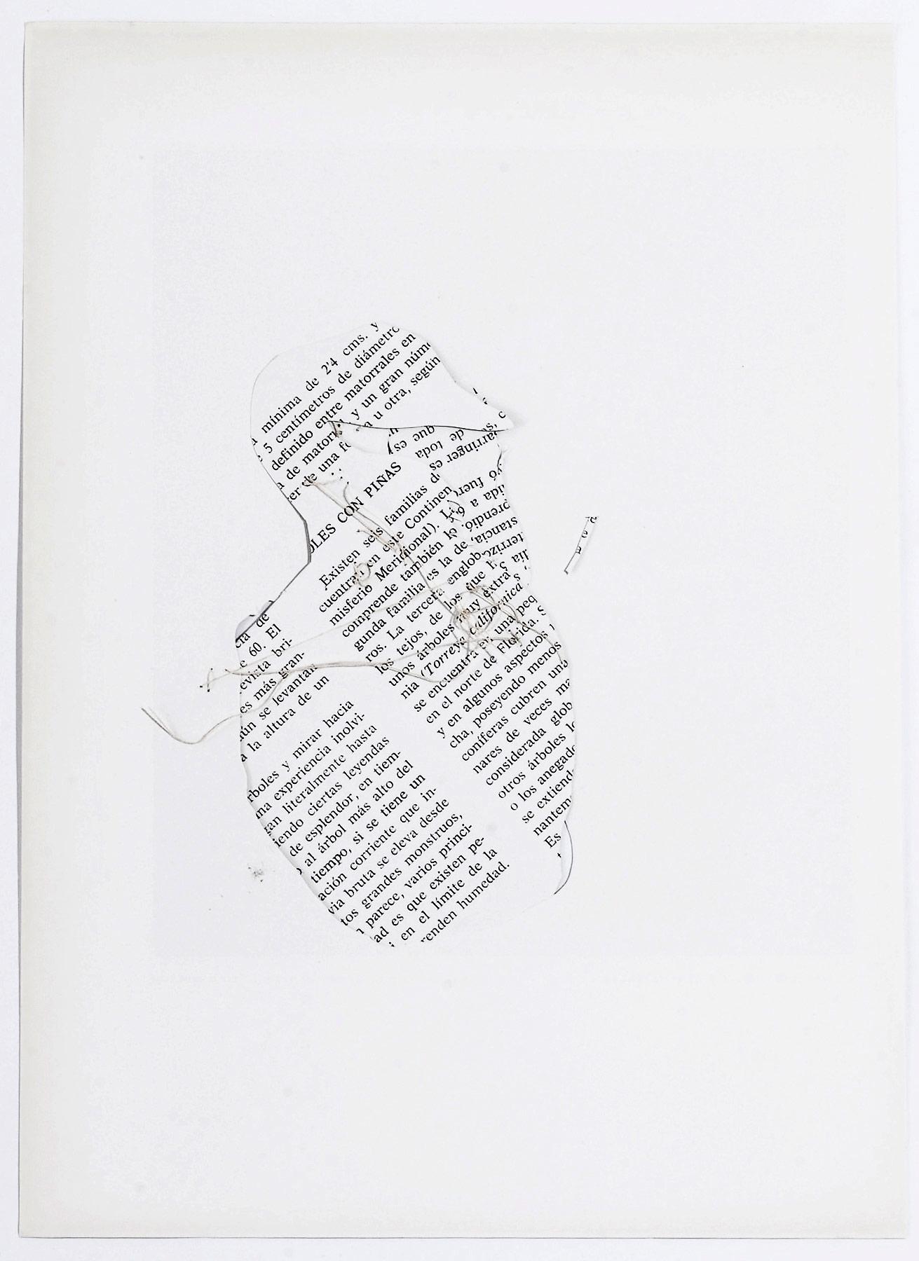 Collage#27, 2010. (Dorso). Collage,papel, hilo. 25 x 19,5 cm.