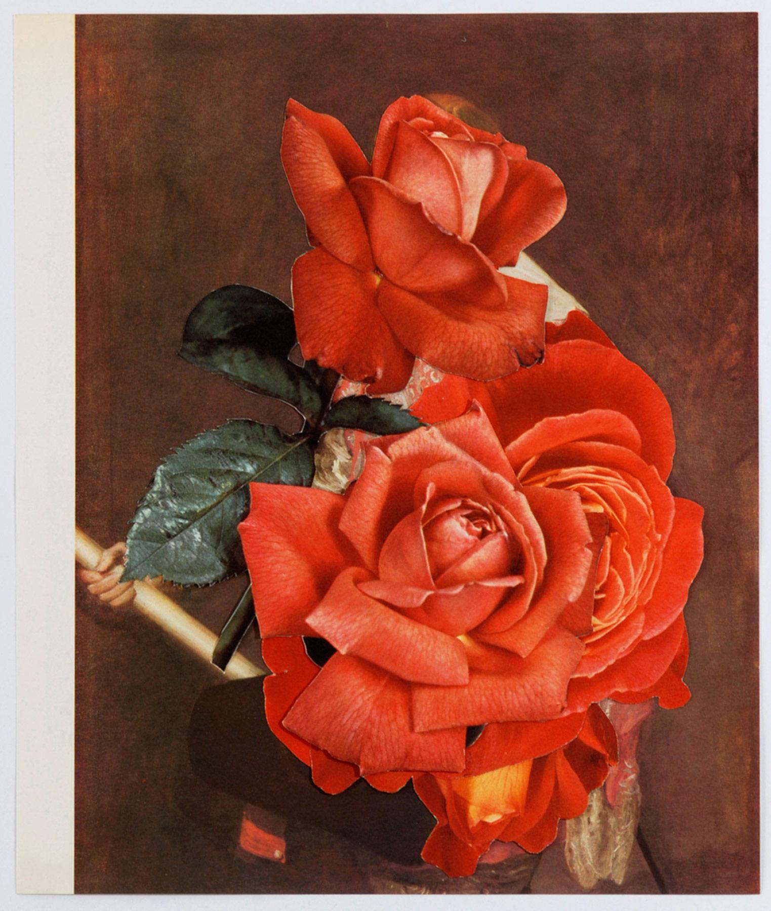 Collage#29, 2010. (Frente). Collage,papel, hilo. 43,5 x 39 cm.
