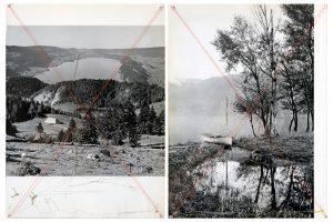 Collage #93-#94, 2015. (Dorso). Díptico, collage, papel, hilo. 27,5 x 21 cm c/u.