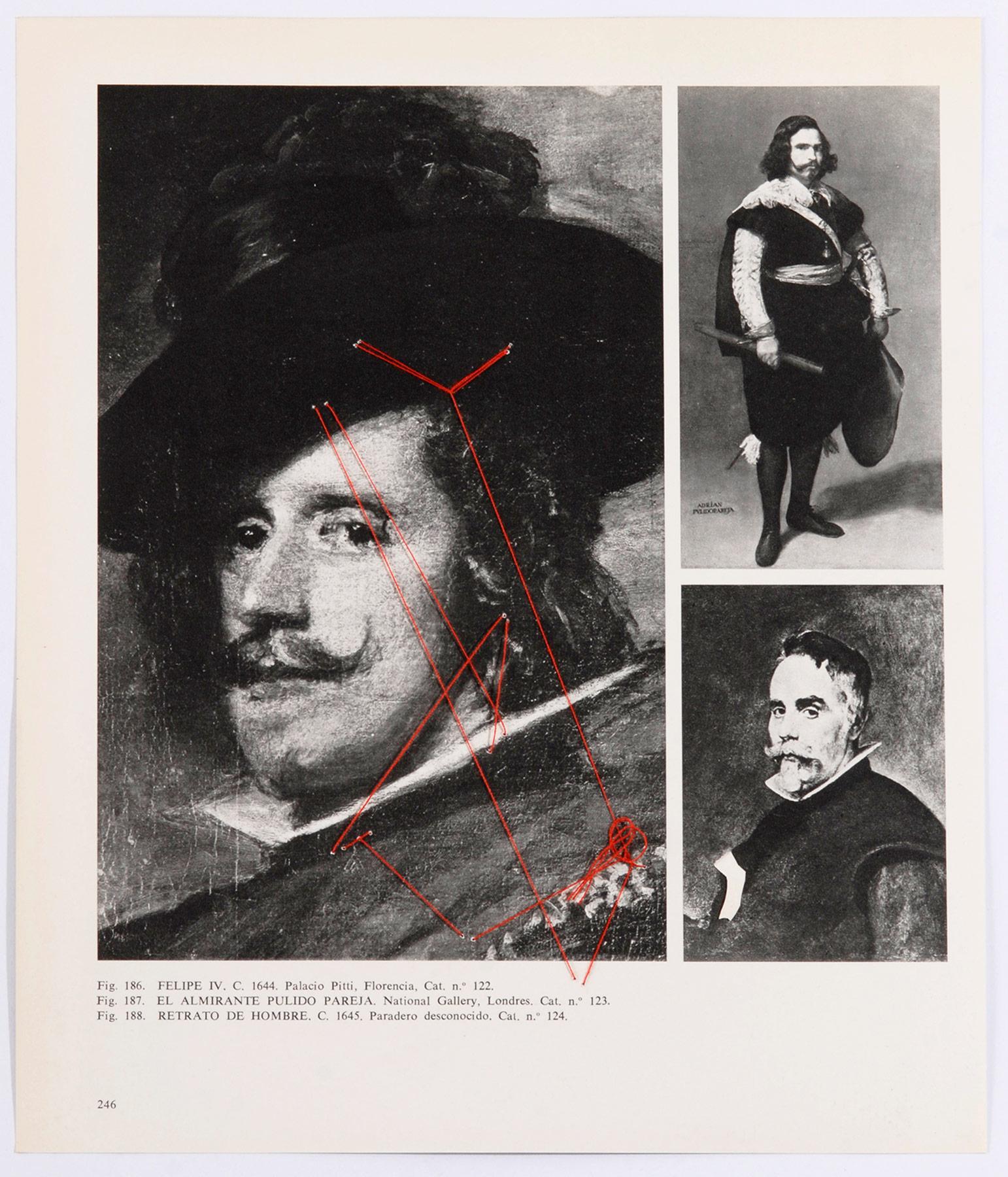 Collage#29, 2010. (Dorso). Collage,papel, hilo. 43,5 x 39 cm.