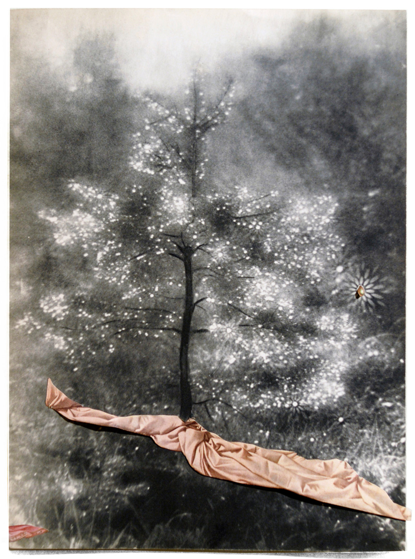 Collage#35, 2010. (Frente). Collage,papel, hilo. 35 x 26 cm.