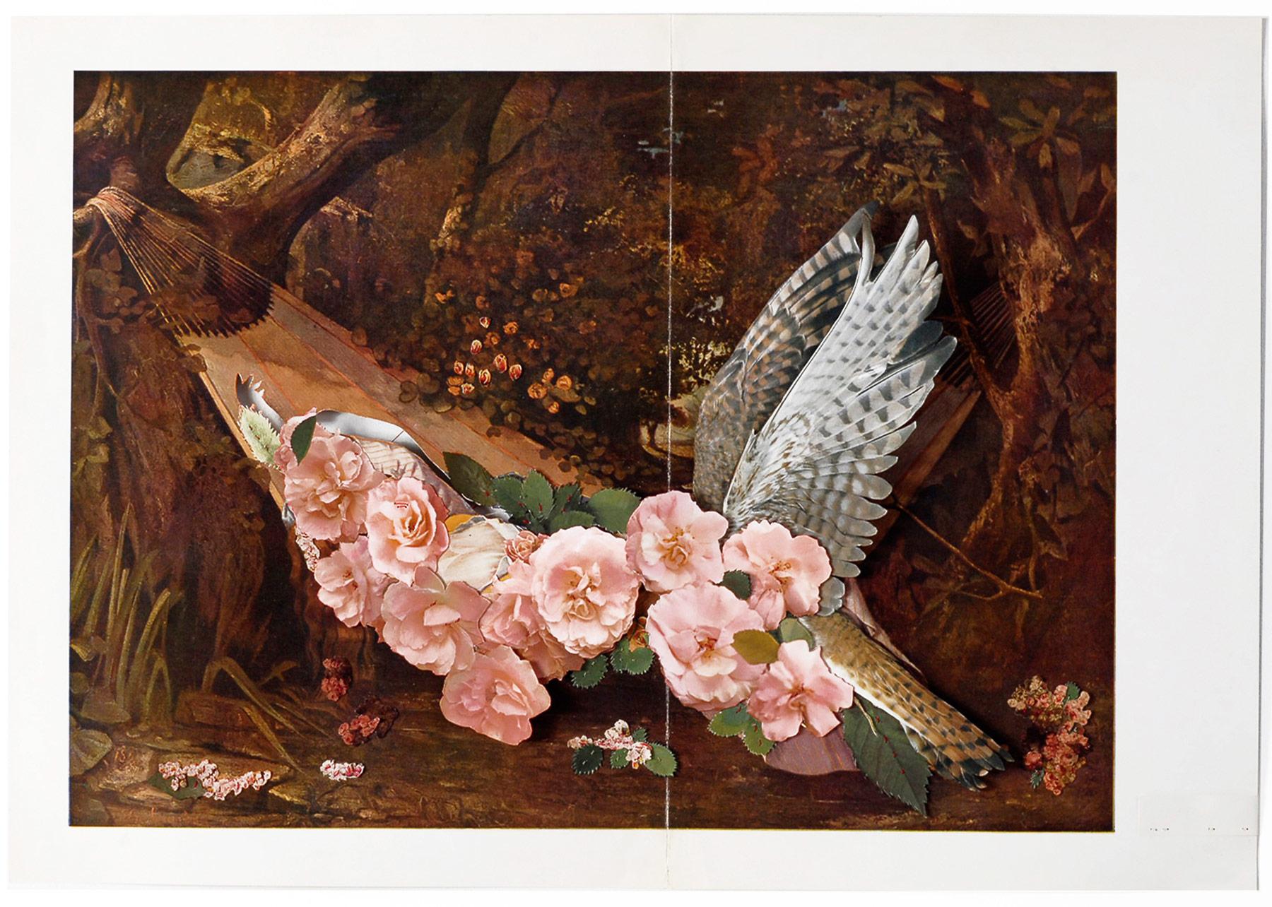 Collage#40, 2010. (Frente). Collage,papel, hilo. 47,5 x 65 cm.