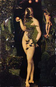 Collage #43, 2011. (Frente). Collage, papel, hilo. 56 x 38 cm.