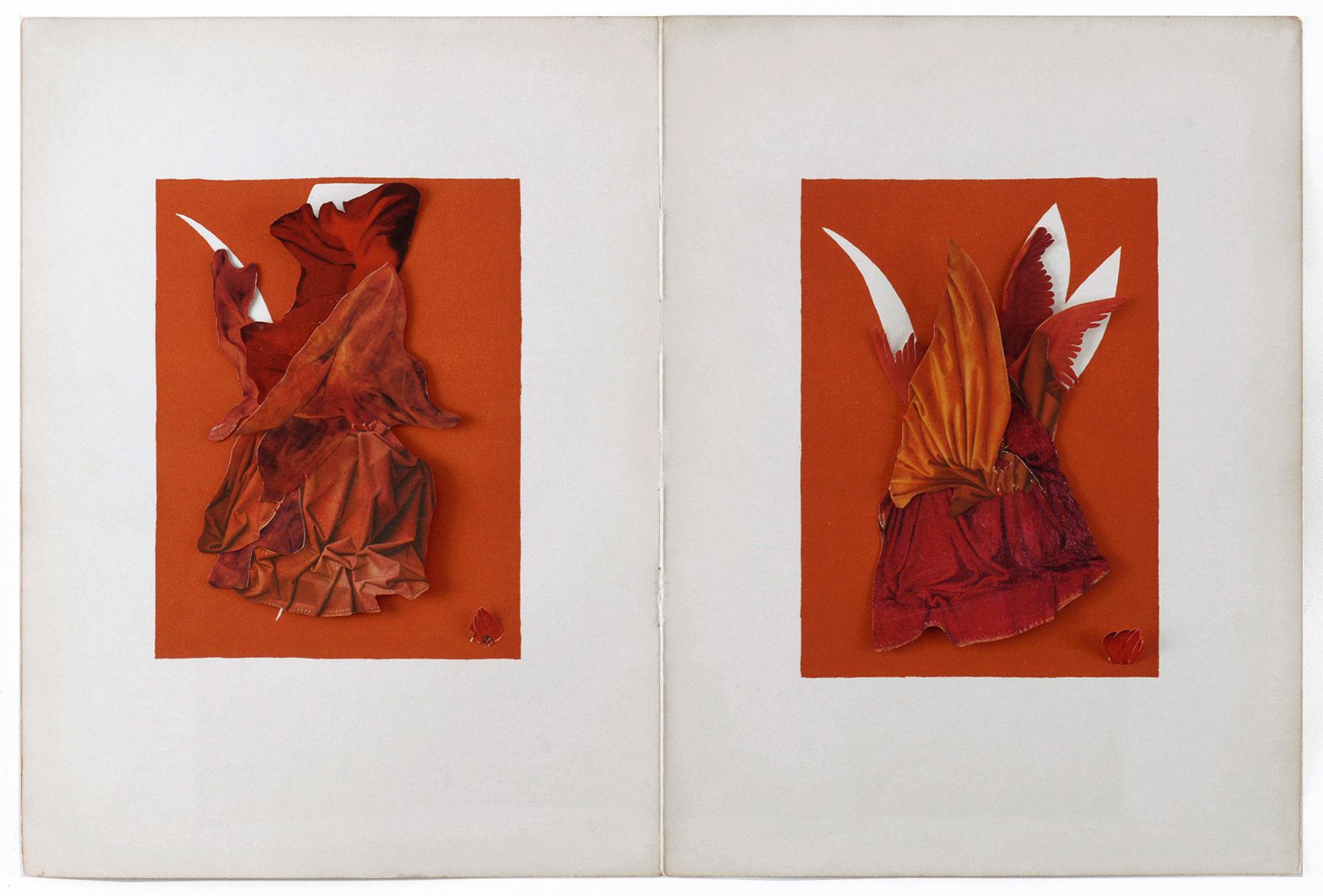 Collage#36, 2010. (Frente). Collage,papel, hilo. 35,4 x 52,6 cm.