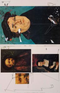 Collage #43, 2011. (Dorso). Collage, papel, hilo. 56 x 38 cm.