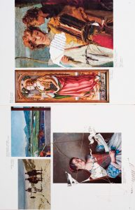 Collage #44, 2011. (Dorso). Collage, papel, hilo. 56 x 38 cm.