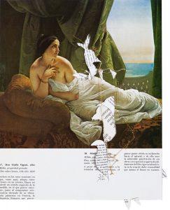 Collage #49, 2011. (Dorso). Collage, papel, hilo. 30,5 x 23 cm.