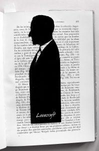 Señalador de la muestra, silueta de H.P.Lovecraft.