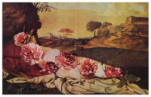 Collage#54, 2012. (Frente). Collage, papel, hilo. 37 x 55 cm.